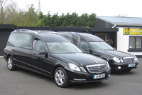 Sharkey Funeral directors hearse fleet